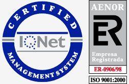 Certificación ISO 9001200 AENOR